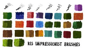 RIS Impressionistic Brushes by raheel963