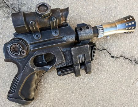 Custom DL-44 style Star Wars blaster pistol prop by firebladecomics