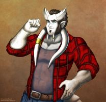 Barnaby wearing a flannel by andrea-koupal