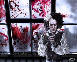 Sweeney Todd - Shaving time by Dzoan