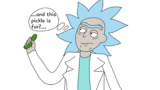 rick and a pickle by mewmew284