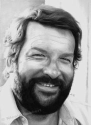 Bud Spencer (marker drawing) by Quelchii