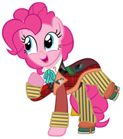 Pinkie Pie as the 6th Doctor by CloudyGlow