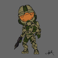 Chibi Chief by SabreWing