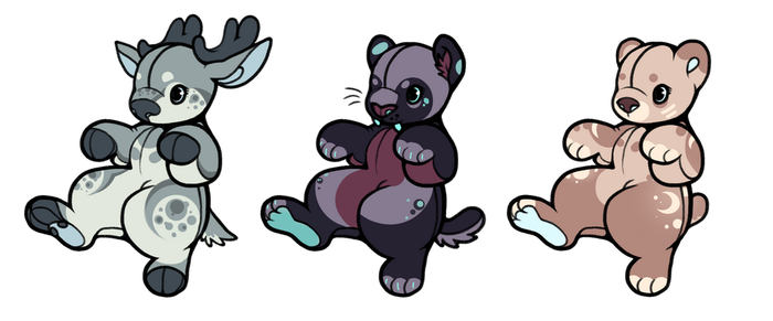 plushie adopts [2/3 open] nyp by goomygloops