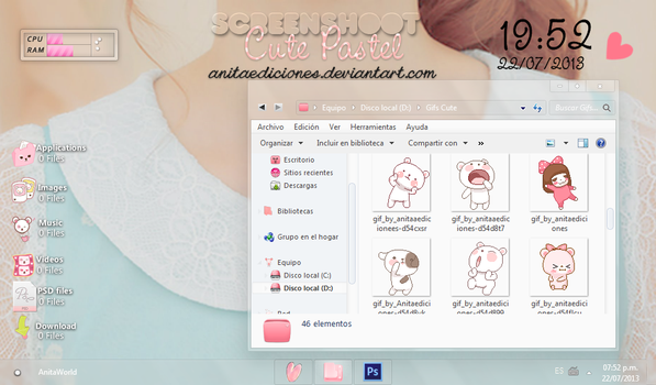 Screenshoot Cute Pastel By AnitaEdiciones by AnitaEdiciones