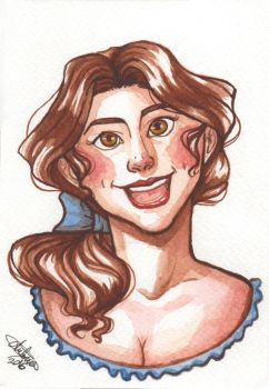 Belle in watercolors by Blueberry-me