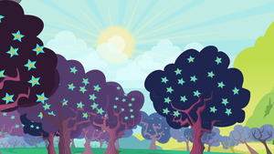 Group Background #7 - Zapapples in Bloom by MLP-Vector-Collabs