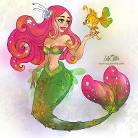 Pink Mermaid by LilaCattis