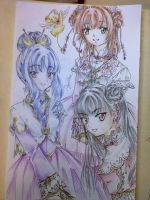 Sakura, Tomoyo and Meilin by Shiyaechan by NewTrials