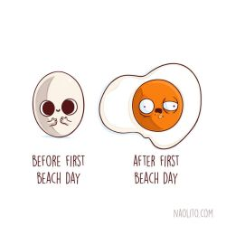 Before After First Beach Day by Naolito