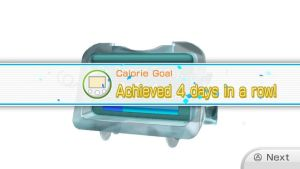 Calorie burning Goal Fourth Day in a Row by Keyotea