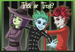 Trick or Treat- Lock Shock and Barrel by GrimzyRaider
