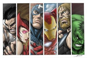 Avengers colored by Niggaz4life