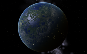 Terraformed Moon 3000 AD by 77Mynameislol77