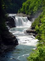 Letchworth Falls spring...Lower falls. by sweatangel