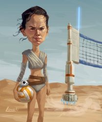The Force Awakens - VB-8 Droid by infernovball