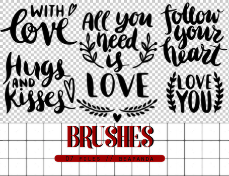 Brushes 014 // Text Love Brushes by BEAPANDA