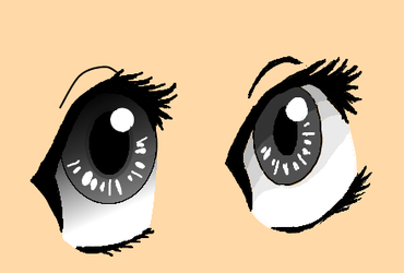 Anime Eyes - Attempt by Jakeiiii
