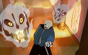Undertale Sans Collab by vinxx555