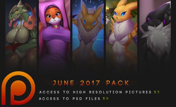 Patreon PSD pack - June 2017 by DoomXWolf