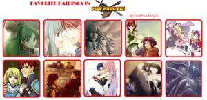 Favorite Pairings in Fire Emblem (Blazing Sword) by DuskMindAbyss