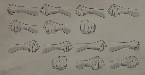 Fist Rotation Reference Sheet by Atropicus