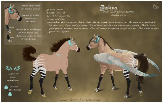 Iskra - reference sheet by AonikaArt