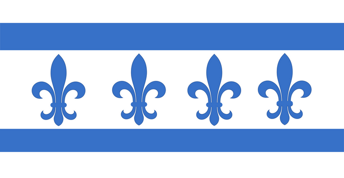 Flag of Quebec in the style of Chicago by FitzGeraldian