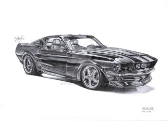 Shelby GT500 Obsidian by Faik05