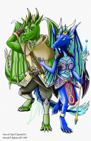 Com: Drago and Viper by Rylucius