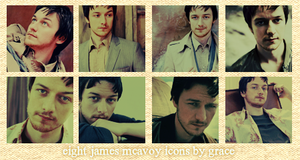 James McAvoy Icons by charcal