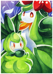 30DoD: Petilil and Lilligant by Chibi-Nuffie