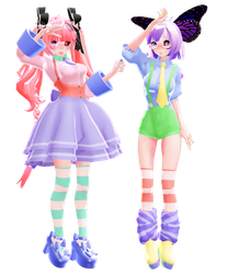 {100 Watchers Gift!}PastelCA and PastelRB[DL] by Hanazhi