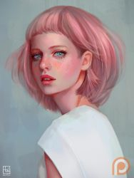 Pink Haired Lady by serafleur