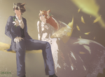 FFXIV character wedding (commission) by Shana1124