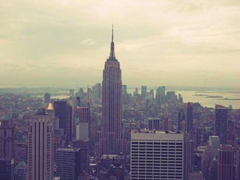 New York City Empire State Rockerfeller View by ToniLouiseByrnes
