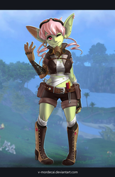 Goblin design with background by V-Mordecai