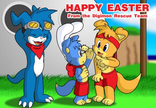 Digimon Rescue Team Easter by Coshi-Dragonite