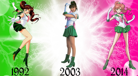Sailor Jupiter Over The Years by FlyingPrincess