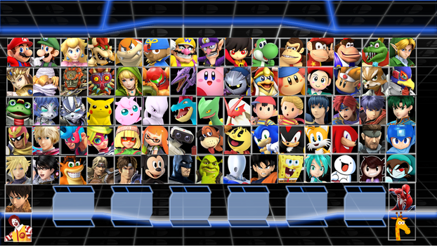 Super Smash Bros. Crusade 2 Roster Idea 2.0 by MrYoshi1996