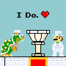 Bowser and Luigi - A Royal Wedding by BowserSpears