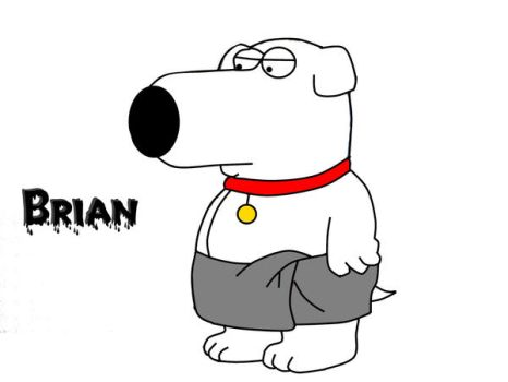 Brian Griffin wearing a towel by brian-g-fan
