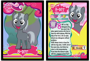 MLP Collectible Card: 8-BIT by gamemastertom