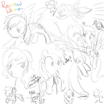 mlp sketches 1 by CosmicPonye