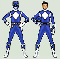 Blue Ranger - Mighty Morphin Power Rangers by vandersonmetal
