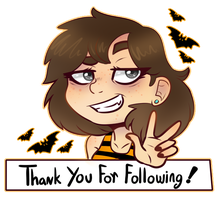 Thanks for following me! by Eve-Of-Halloween