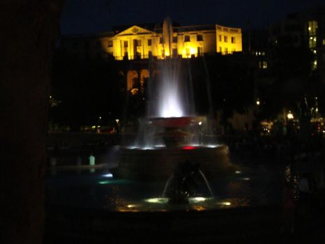 Trafalgar Fountain by night by TigerQueen-Sangha