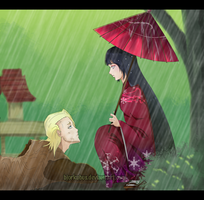 IzuruHinata . Rain and Poverty by bjorkubus