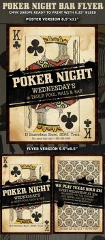 Poker Night Flyer Template by Hotpindesigns